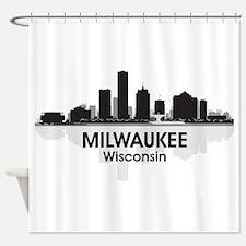 Milwaukee Skyline Shower Curtain