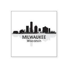 "Milwaukee Skyline Square Sticker 3"" x 3"""