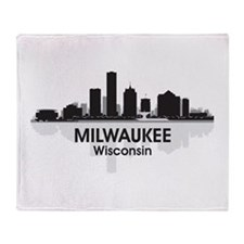 Milwaukee Skyline Throw Blanket