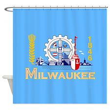 Milwaukee Flag Shower Curtain