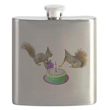 Squirrels Birthday Flask