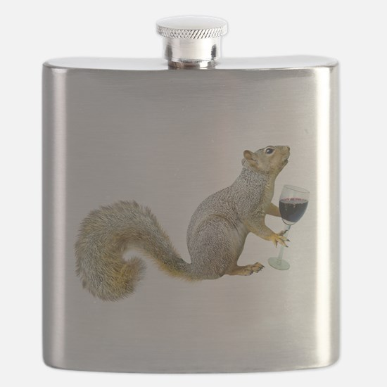 Squirrel with Wine Flask