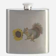 Squirrel Sunflower Flask