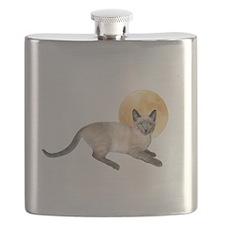 Full Moon Cat Flask