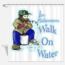Ice fishing Shower Curtain