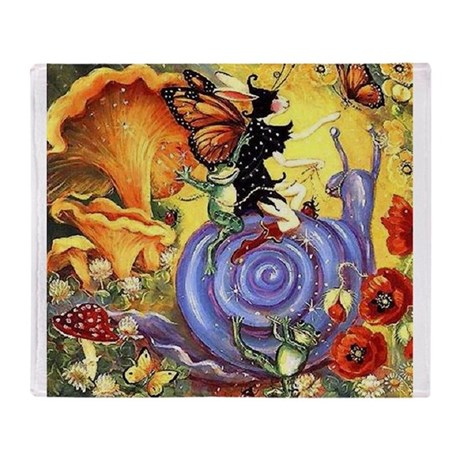 Butterfly Fairy Throw Blanket
