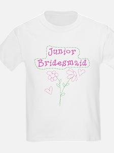 Flowers Junior Bridesmaid Kids T-Shirt