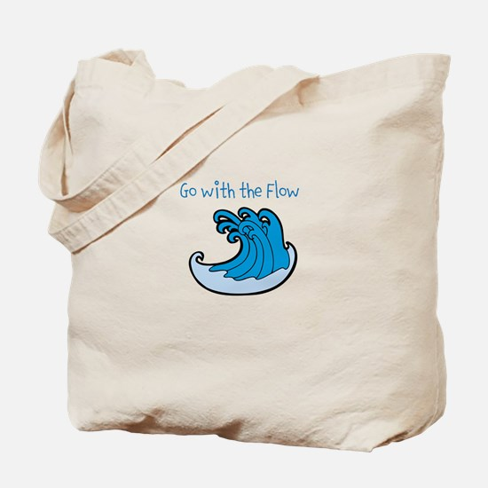 Go with the Flow - Wave Tote Bag