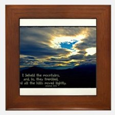 Jeremiah 4:24 Framed Tile