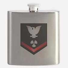 Navy PO3 Machinist's Mate Flask
