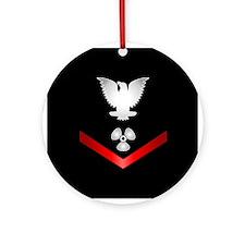 Navy PO3 Machinist's Mate Ornament (Round)