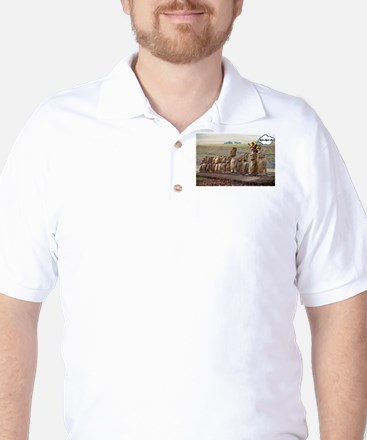 EasterIslandFruitMeme Golf Shirt