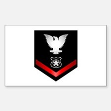 Navy PO3 Master at Arms Sticker (Rectangle)