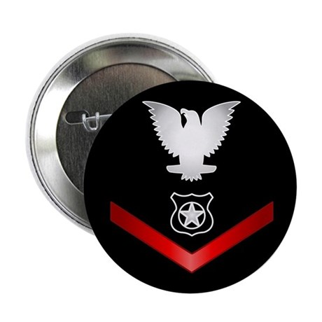 """Navy PO3 Master at Arms 2.25"""" Button"""