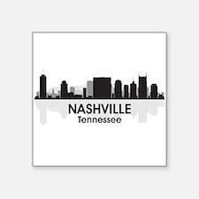 "Nashville Skyline Square Sticker 3"" x 3"""