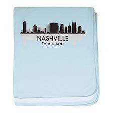 Nashville Skyline baby blanket