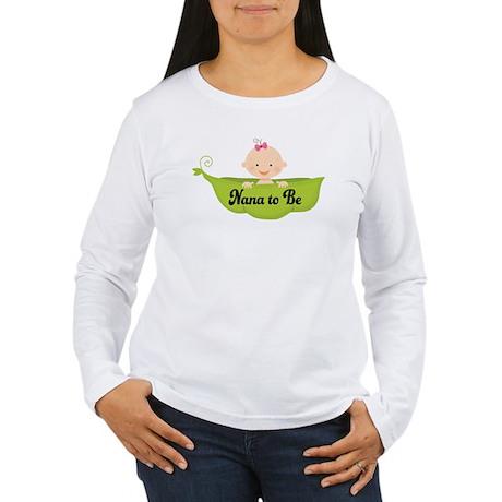 Nana to Be Pea Pod Women's Long Sleeve T-Shirt