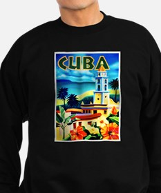 Cuba Travel Poster 6 Sweatshirt (dark)