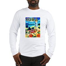 Cuba Travel Poster 6 Long Sleeve T-Shirt