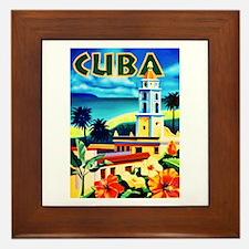 Cuba Travel Poster 6 Framed Tile