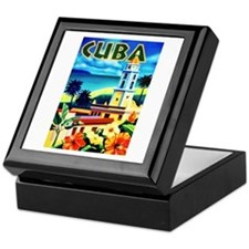 Cuba Travel Poster 6 Keepsake Box