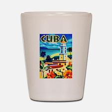 Cuba Travel Poster 6 Shot Glass