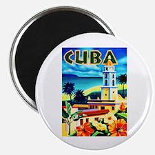"Cuba Travel Poster 6 2.25"" Magnet (10 pack)"