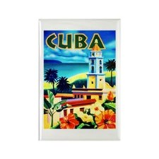 Cuba Travel Poster 6 Rectangle Magnet