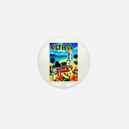 Cuba Travel Poster 6 Mini Button