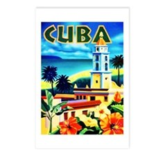 Cuba Travel Poster 6 Postcards (Package of 8)
