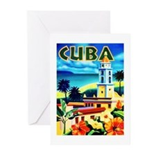 Cuba Travel Poster 6 Greeting Cards (Pk of 20)