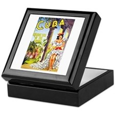 Cuba Travel Poster 1 Keepsake Box