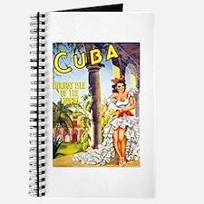 Cuba Travel Poster 1 Journal
