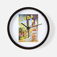 Cuba Travel Poster 1 Wall Clock