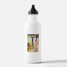 Cuba Travel Poster 1 Water Bottle