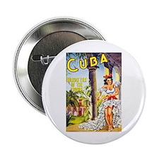 "Cuba Travel Poster 1 2.25"" Button (10 pack)"