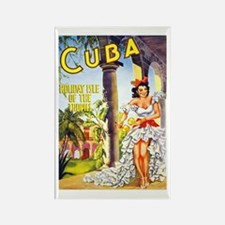 Cuba Travel Poster 1 Rectangle Magnet