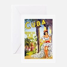 Cuba Travel Poster 1 Greeting Card