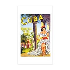 Cuba Travel Poster 1 Decal