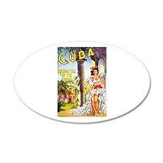 Cuba Travel Poster 1 Wall Decal