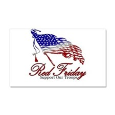 Red Friday Support Car Magnet 20 x 12