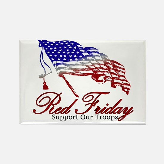 Red Friday Support Rectangle Magnet (10 pack)