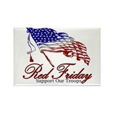 Red Friday Support Rectangle Magnet