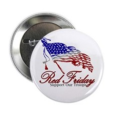 "Red Friday Support 2.25"" Button"