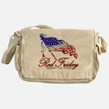 Red Friday Support Messenger Bag