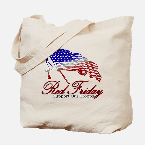 Red Friday Support Tote Bag
