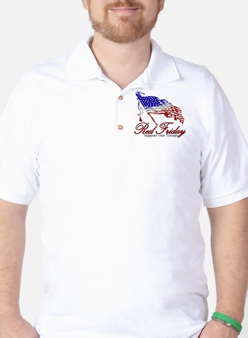 Red Friday Support Golf Shirt