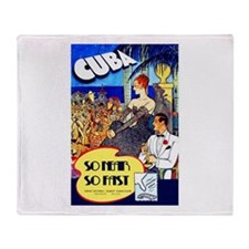 Cuba Travel Poster 8 Throw Blanket