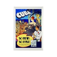 Cuba Travel Poster 8 Rectangle Magnet