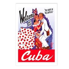 Cuba Travel Poster 5 Postcards (Package of 8)